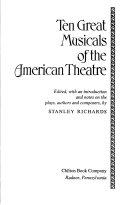 Ten Great Musicals of the American Theatre
