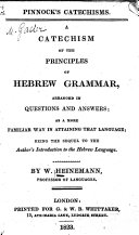 A Catechism of the Principles of Hebrew Grammar
