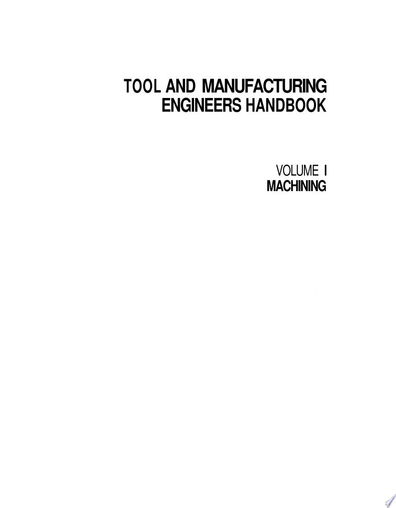 Tool and Manufacturing Engineers Handbook: Machining banner backdrop
