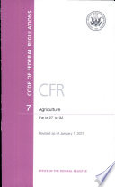 Code of Federal Regulations  Title 7  Agriculture  Pt  27 52  Revised as of January 1 2011