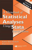 Handbook of Statistical Analyses Using Stata  Fourth Edition