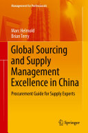 Global Sourcing and Supply Management Excellence in China