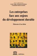 Les entreprises face aux enjeux du développement durable [Pdf/ePub] eBook
