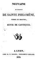 Neuvaine en l'honneur de sainte Philomène, vierge et martyre