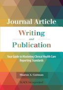 Journal Article Writing and Publication Book