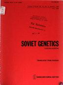 Soviet Genetics Book