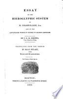 Essay on the Hieroglyphic System of M. Champollion, Jun