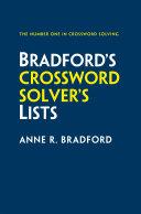 Collins Bradford's Crossword Solver's Lists