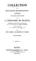 Collection de Pieces A L'Historie de France