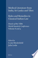 Medical Literature from India, Sri Lanka, and Tibet