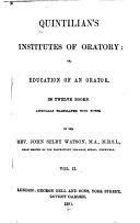 Quintilian's Institutes of Oratory