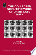 The Collected Scientific Work of David Cass  , Parte 1