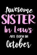 Awesome Sister In Laws Are Born In October Book PDF