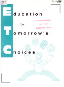 Education for Tomorrow s Choices Book