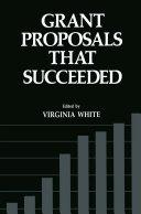 Grant Proposals that Succeeded