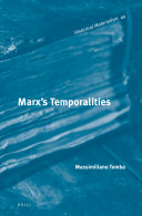 Marx's Temporalities