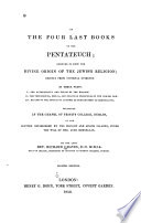 On the Four Last Books of the Pentateuch