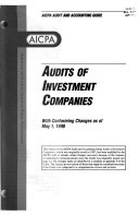 Audits of Investment Companies  with Conforming Changes as of May 1  1998