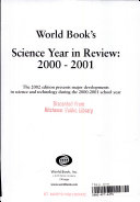 World Book s Science Year in Review Book