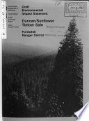 Tahoe National Forest  N F   Duncan Sunflower Timber Sale  Foresthill Ranger District