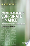 An Introduction to Corporate Finance Book