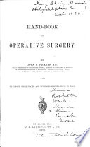 A Hand book of Operative Surgery Book