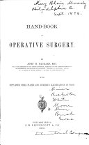 A Hand book of Operative Surgery