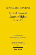 Typical Personal Security Rights in the EU
