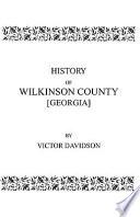 History of Wilkinson County  Georgia