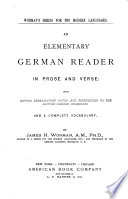 An Elementary German Reader in Prose and Verse