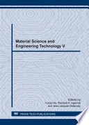 Material Science And Engineering Technology V Book PDF