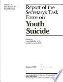 Report of the Secretary s Task Force on Youth Suicide  Risk factors for youth suicide