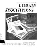 Library Acquisitions List