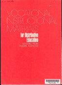 Vocational Instructional Materials For Distributive Education Available From Federal Agencies