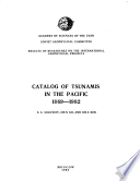 Catalog of Tsunamis in the Pacific, 1969-1982