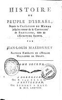 HISTOIRE DU PEUPLE D'ISRAËL