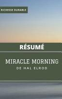 (Résumé) MIRACLE MORNING de Hal Elrod