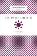 How to Run a Meeting Pdf/ePub eBook