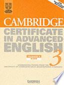 Cambridge Certificate in Advanced English 3 Teacher's Book