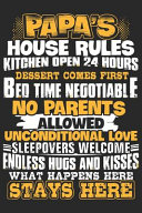 Papa s House Rules Kitchen Open 24 Hours Dessert Comes First Bed Time Negotiable No Parents Allowed Unconditional Love Sleepovers Welcomes Endless Hu