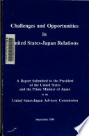 Challenges and Opportunities in United States-Japan Relations