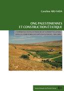 ONG palestiniennes et construction étatique ebook
