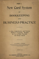 New Card System of Bookkeeping   Business Practice