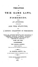 A Treatise on the Game Laws and on Fisheries