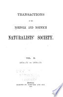 Transactions   Norfolk and Norwich Naturalists  Society