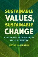 Sustainable Values  Sustainable Change