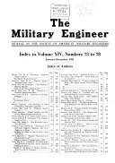 The Military Engineer; Journal of the Society of American Military Engineers