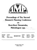 Proceedings of the Second Research Planning Conference on Root-Knot Nematodes, Meloidogyne Spp., November 26-30, 1979, Athens, Greece