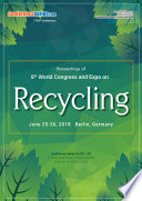 Proceedings of 8th World Congress and Expo on RECYCLING 2018