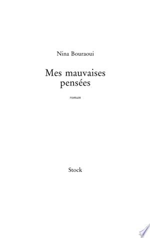 Download Mes mauvaises pensées Free PDF Books - Free PDF